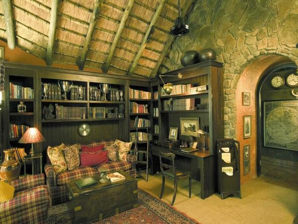 Singita Ebony Lodge - Library