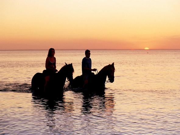 Indigo Bay Island Resort and Spa - Spend a romantic evening on a sunset horseride.