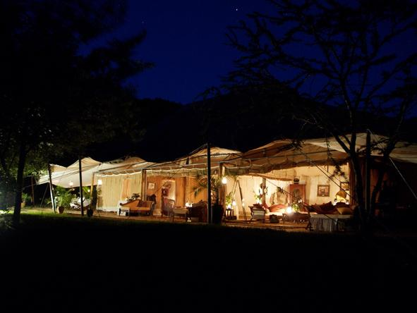 Cottars 1920's Safari Camp - At night