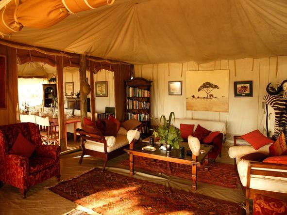 Cottars 1920's Safari Camp - Lounge