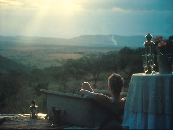 Cottars 1920's Safari Camp - outside bath