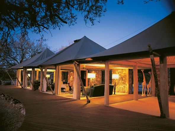 Onguma Luxury Tented Camp - Camp at night