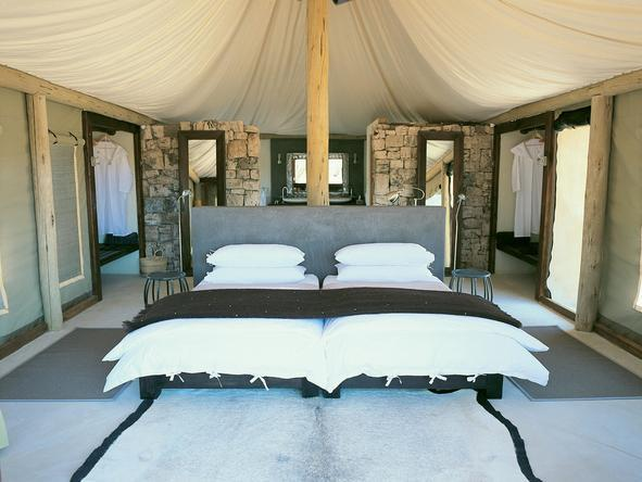 Onguma Luxury Tented Camp - Bedroom