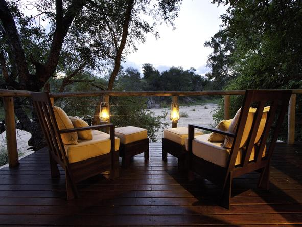 Rhino Post Safari Lodge - Private Deck
