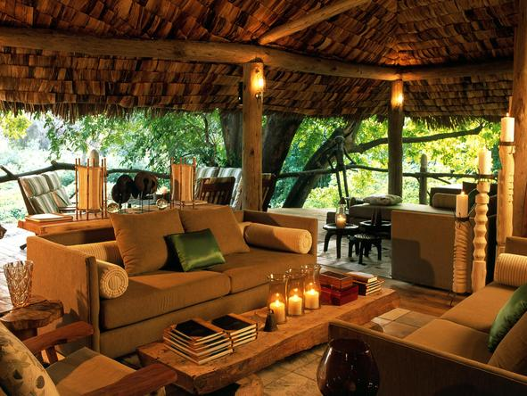 Lake Manyara Tree Lodge - Lounge