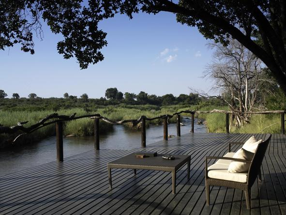 Lion Sands River Lodge -Deck