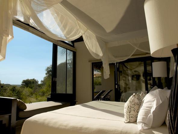 Lion Sands Ivory Lodge - Bedroom View