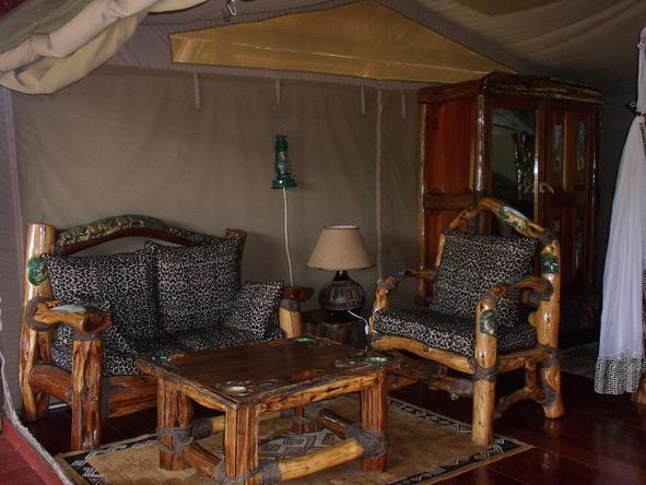 Royal Mara Safari Lodge - Sitting Area