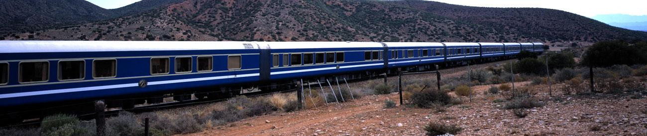 Blue Train - discover pure luxury on a rail journey with the Blue Train and Go2Africa.