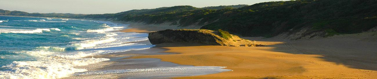 KwaZulu-Natal - ideal for the adventurous: this beach and bush destination offers wild rugged terrain, amazing Big 5 game reserves and endless beach scenery.