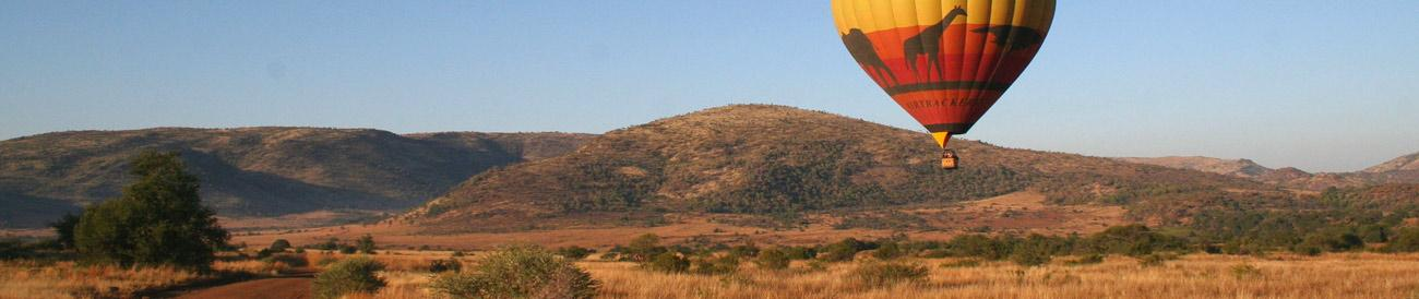 Pilanesberg - combine excellent big game viewing with thrilling activities such as elephant-back safaris and scenic hot air balloon flights.