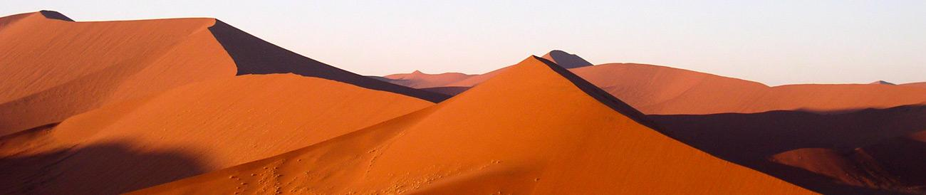 Sossusvlei - the tallest dunes in the world are best enjoyed as part of an early morning climb; watch the sunrise from the top of Dune 45.