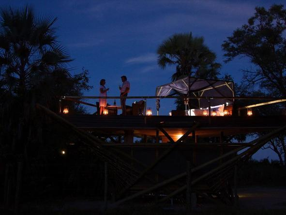 Abu Camp - deck at night