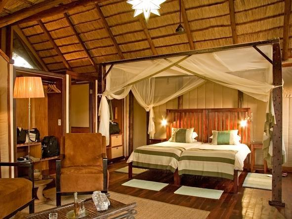 Chief's Camp - luxury bedroom with twin beds