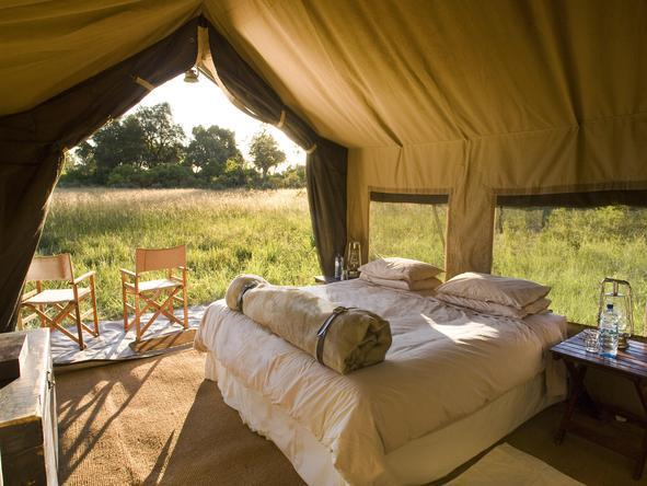 Chobe Under Canvas - tent interior / bedroom