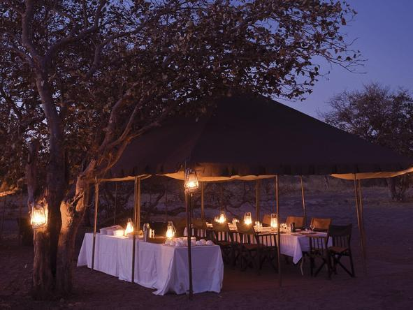 Chobe Under Canvas - outdoor dining