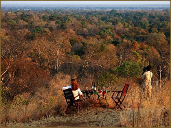Chongwe River Camp - bush dining