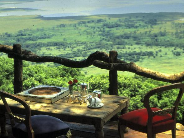 Ngorongoro Crater Lodge - deck view
