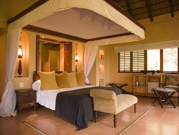 Chobe Chilwero - luxury bedroom at Chobe Chilwero