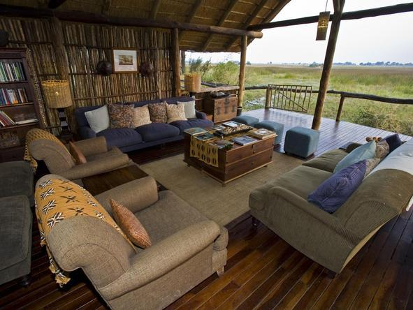 Duba Plains Camp - lounge