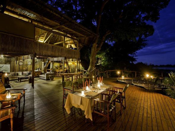 Jacana Camp - outdoor dining