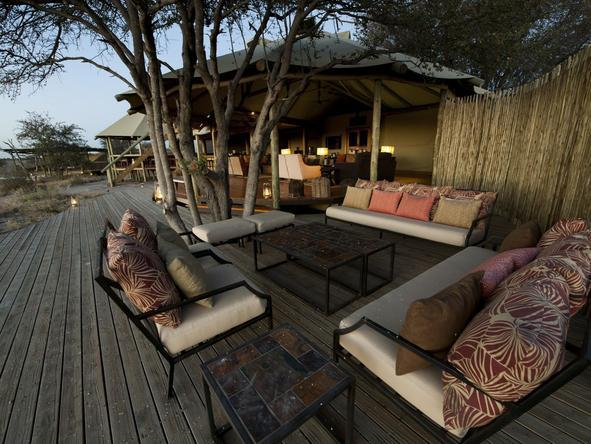 Kalahari Plains Camp - main deck