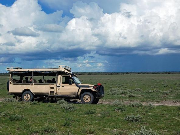 Kalahari Plains Camp - game drive