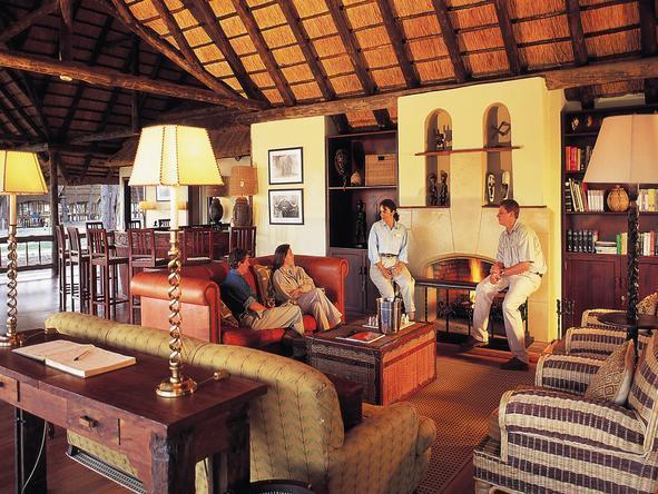 Khwai River Lodge - safari-style lounge