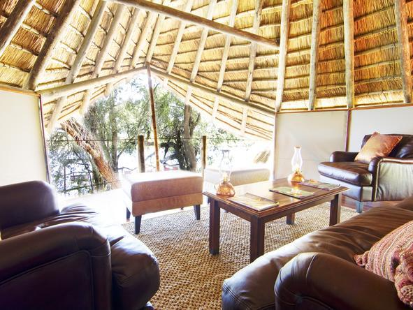 Kwando Lagoon Camp - Lounge