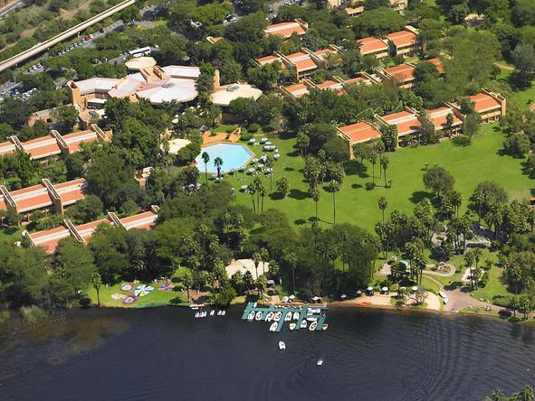 Cabanas - aerial view of the resort