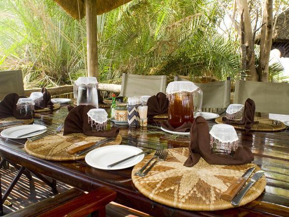 Kwando Lebala Camp- Dining