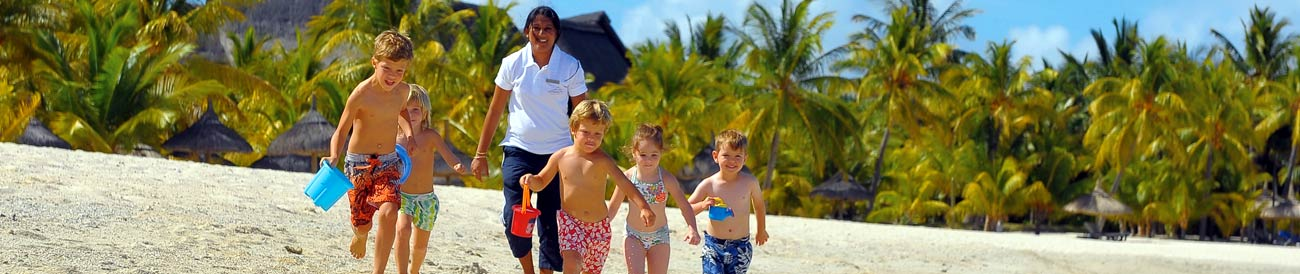 Mauritius Family Holiday - kids clubs and professional child minders mean you get to have a holiday too!