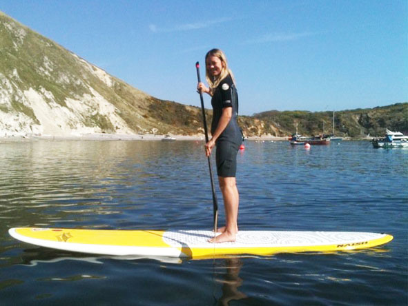 Lucy Copson - stand up paddleboarding!
