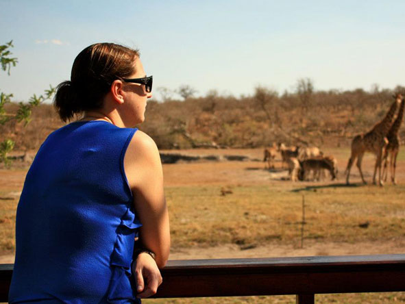 Tracy Payne - overlooking a waterhole at Jamala Lodge, Madikwe