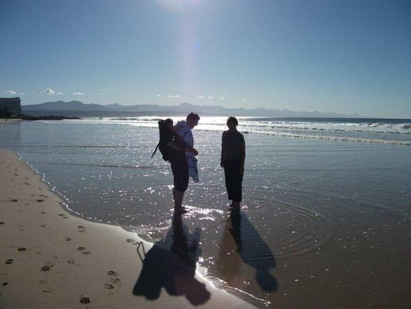 Jason Sheldon - searching for shells on Robberg Beach in Plett