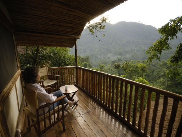 Buhoma Lodge offers really beautiful and wild views, and is close to the main gorilla trekking region.