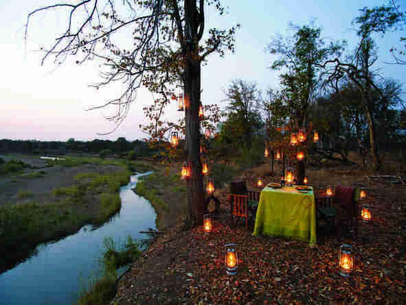 Singita Pamushana Lodge - outdoor dining