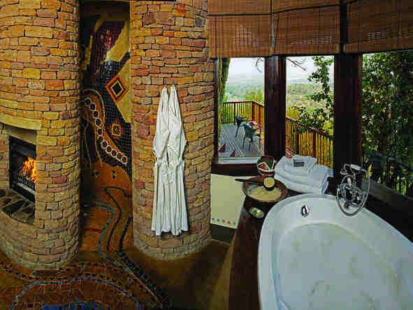 Singita Pamushana Lodge - bathroom