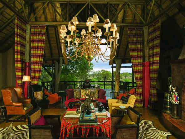 Singita Ebony Lodge - Lounge
