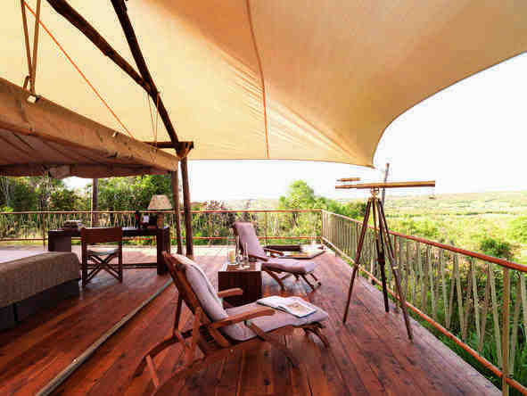 Mara Bushtops Camp - private deck