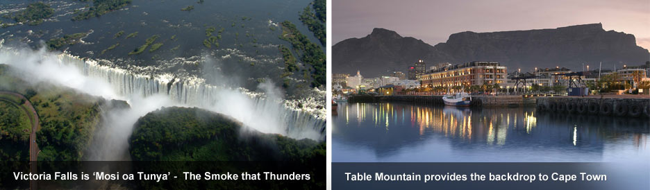 Africa's Famous Places - Table Mountain & Victoria Falls