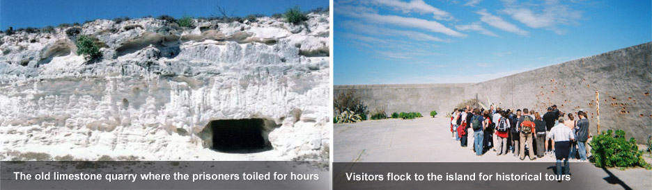 Robben Island - the famous limestone quarry &amp; historical tours