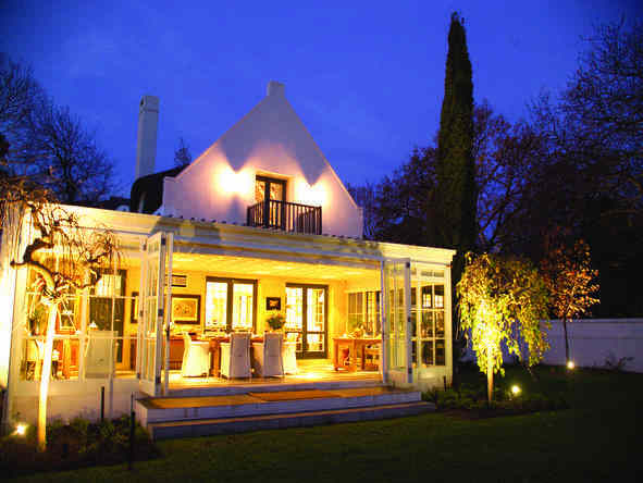 The Owner's Cottage at Grande Provence - exterior at night