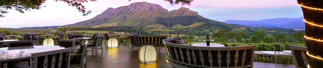 Enjoy fine dining & magnificent views at Delaire Graff Estate - a top choice for a food & wine holiday.