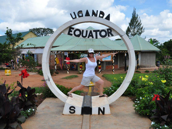 Emma Hill - on the equator in Uganda