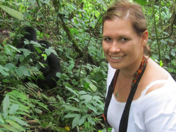 Emma Harrop - gorilla tracking in Uganda