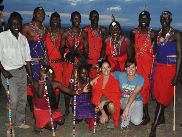 Emma Hill - meeting the locals in Kenya