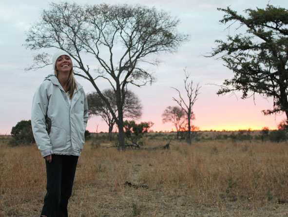 Lisa Liprini - enjoying the sunset in Madikwe
