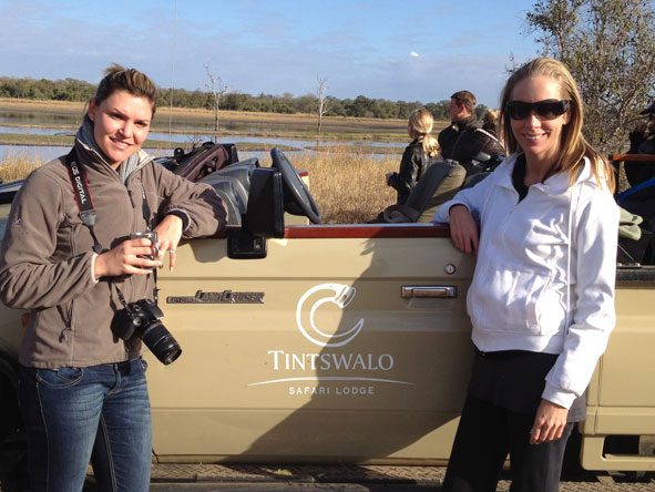 Lisa Liprini - on safari in Madikwe with Ashley