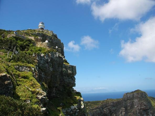Cape Point - red & white lighthouse